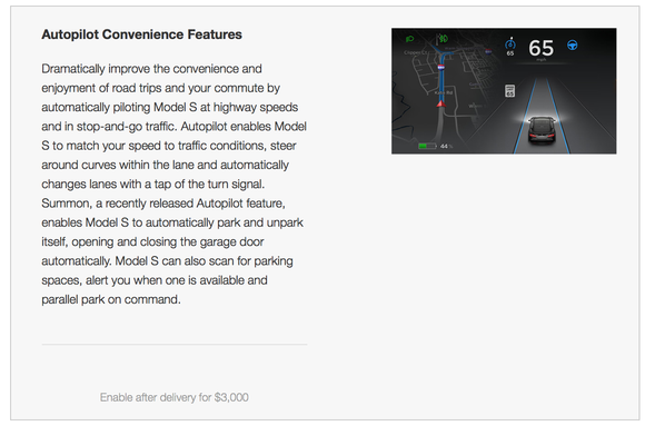 Autopilot Convenience Features Tesla