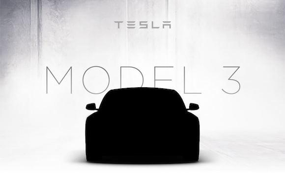Tesla teases a peek of $35000 Model 3's design