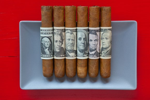Cuban Cigars With Us Money By Getty