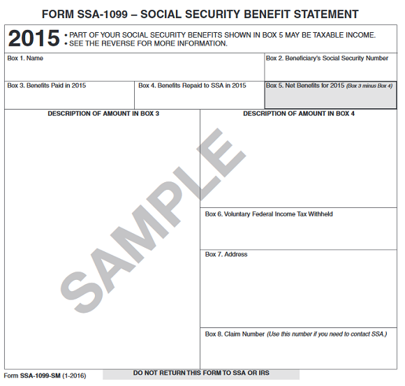 Form SSA1099 What Everyone on Social Security Should Know The – Social Security Form