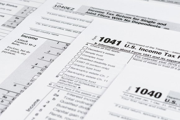 Various U.S. income tax forms