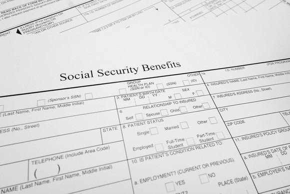 Social Security benefits form