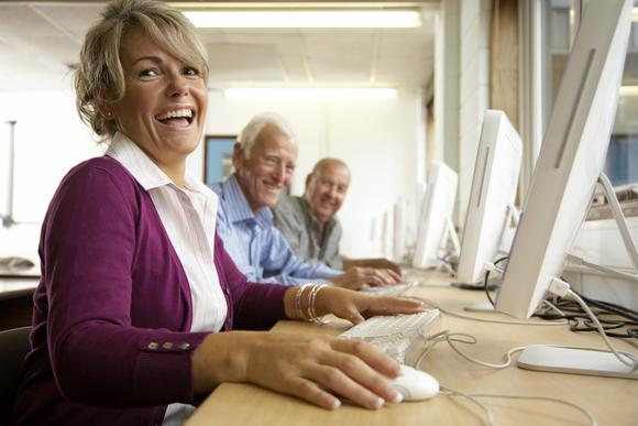 Retirees On Computers Gettyimages