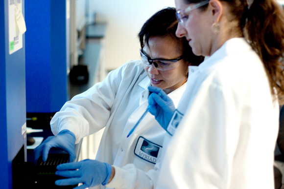 Labwork Source Myriad Genetics