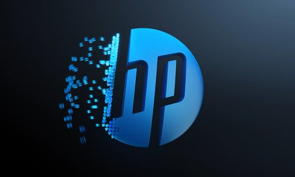 Hp Logo With Voxels