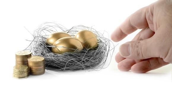 Getty Taking Golden Egg From Nest