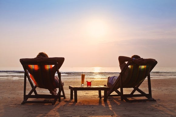 Getty Couple On Beach Chairs
