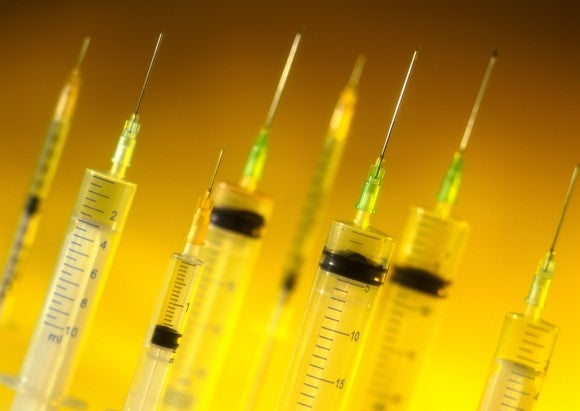 Getty Images Syringes Pointing Up