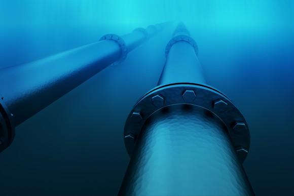 Underwater Pipeline From Getty
