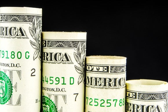 Dollar Bill Falling Step Pattern Getty