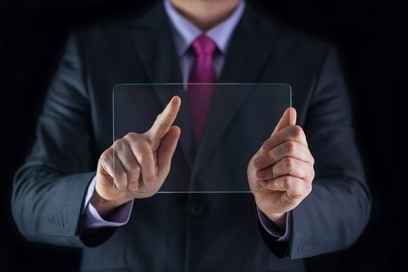 Pressing A Transparent Screen