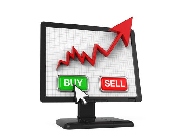 Screen With Buy And Sell Buttons