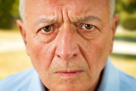 Worried Senior Man Portait Getty