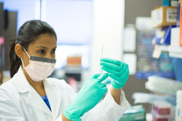 Scientist With Needle