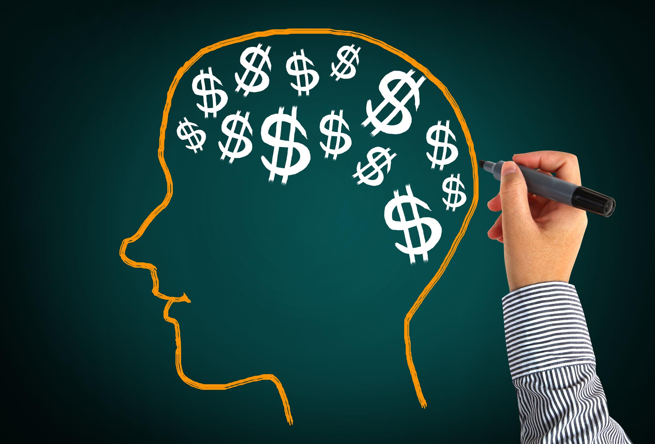 getty brain with dollar signs