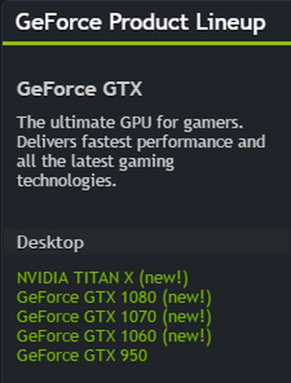 New Gtx Lineup