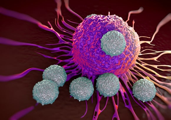 Getty Images T Cell Attacking Cancer Cell