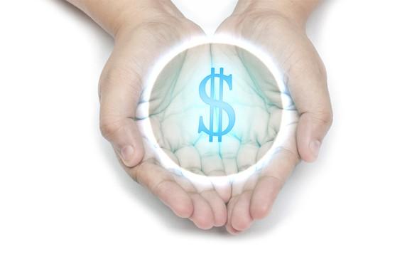Handing Dollar Sign