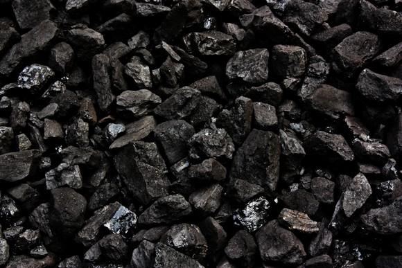 Black coal nuggets