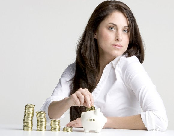 Woman Saving Money In