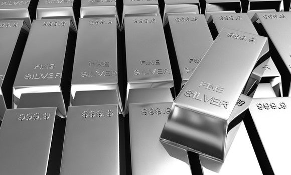 Silver Bars And Ingots Getty