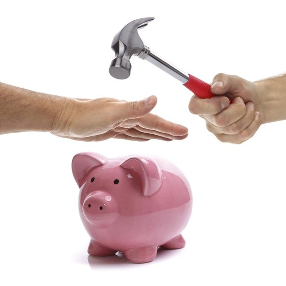 Breaking Piggy Bank