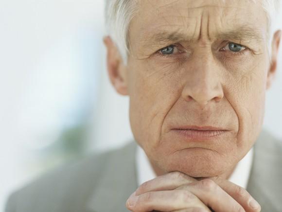 Senior Man Portait Worried Getty