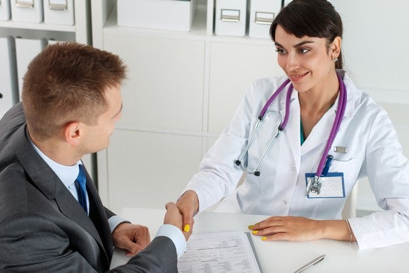 Getty Images Doctor Sales Representative