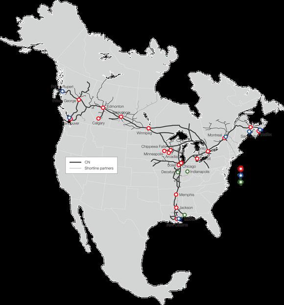 Intermodal Terminals Map En