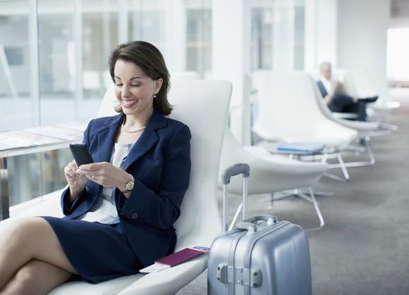Female In Airport