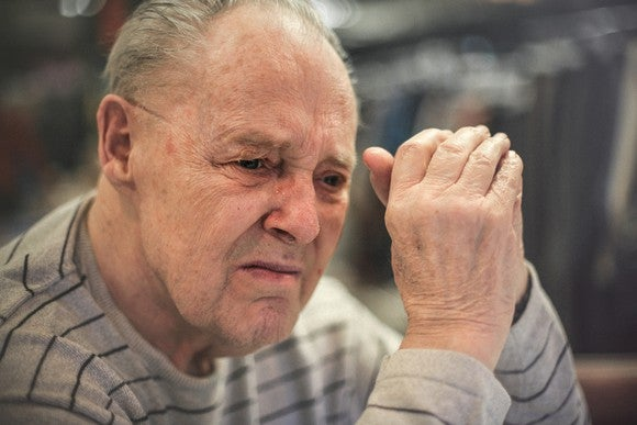 Senior Man With Alzheimers Disease Staring Getty