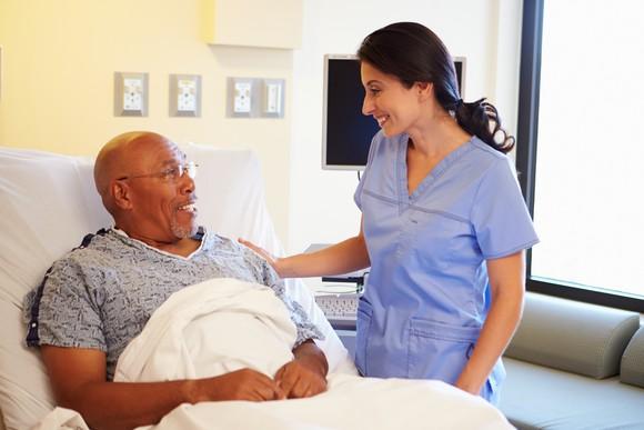 Older Male Patient With Nurse