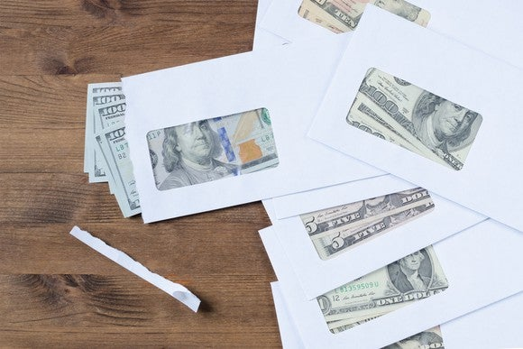 Getty Money In Envelopes Annuity Social Security