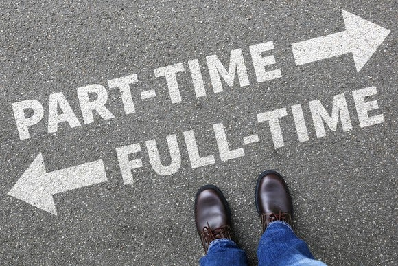 Full Time Part Time Work Decision Job Market Getty