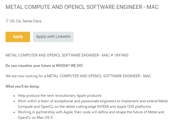 Job Nvidia Apple