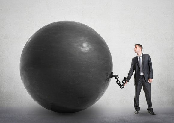 Getty Debt Ball And Chain