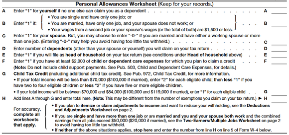 This Is the Most Important Tax Form Youll Ever Need The Motley – Personal Allowances Worksheet Help