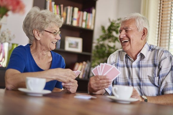 Retirees Playing Cards