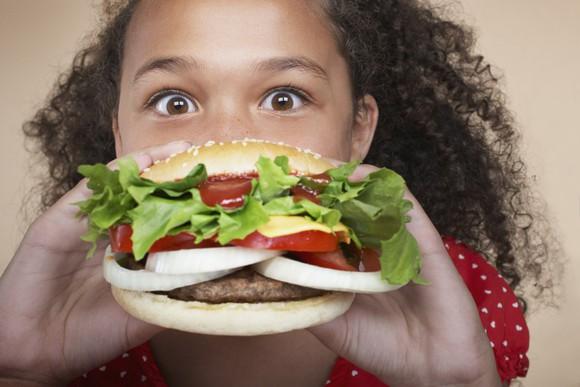 Burger Hamburger Mcdonalds Big Mac Girl Eating Dining Fast Food Vale Menu African American Young Getty