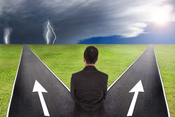 Decision Roads Diverge Lightning