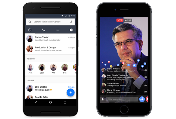 Facebook Workplace Live Video