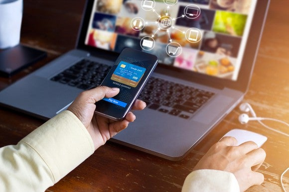 Online Shopping E Commerce Mobile Payment Banking Technology Getty