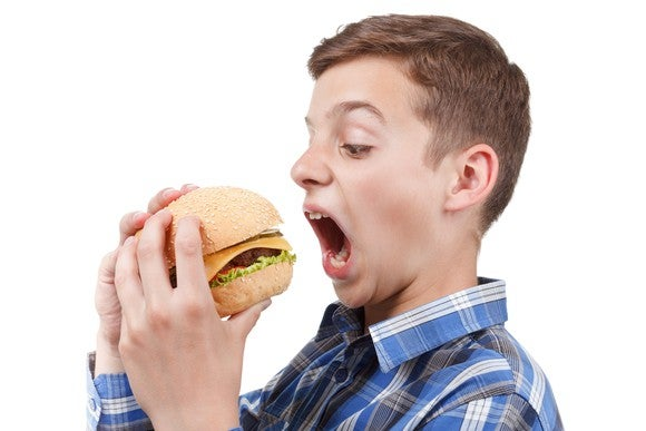 Burger Cheeseburger Bite Boy Male Chew Food Fast Food Meat Hungry Getty