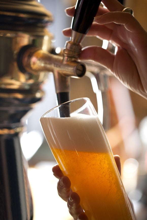 Craft Beer Tap Head Foam Alcohol Getty