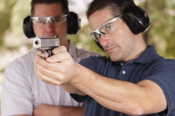 Gun Firearm Shoot Range Males Ear Protection Getty