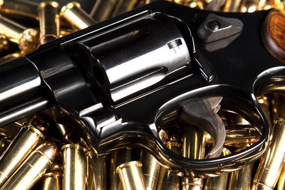 Gun Handgun Pistol Firearm Ammunition Ammo Brass Six Shooter Getty