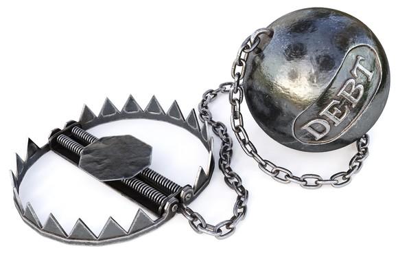 Debt Trap Ball And Chain Getty
