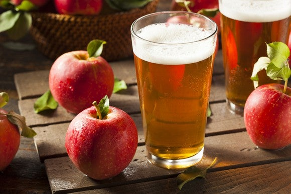 Hard Cider Apple Alcohol Glass Getty