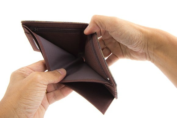 Getty Empty Wallet Empty Pocket
