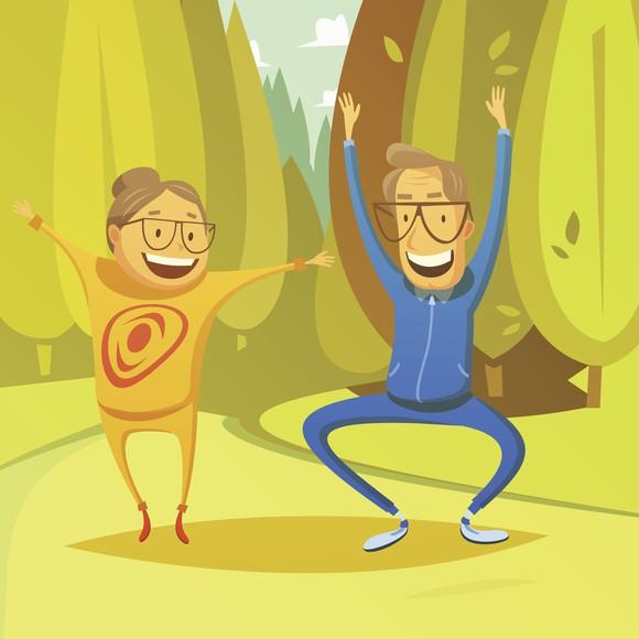 Retirement Happy Elderly Gym